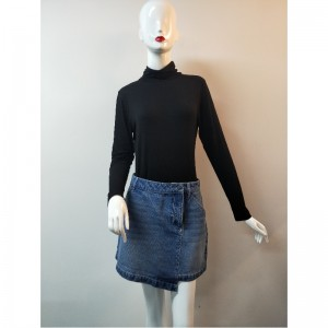 LADIES LIGHT WASH DENIM SKIRT DENIM RLWSK0001M